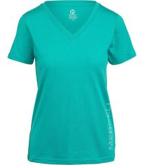 camiseta azul turquesa merrell mujer