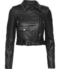 aia leather jacket leren jack leren jas zwart mdk / munderingskompagniet