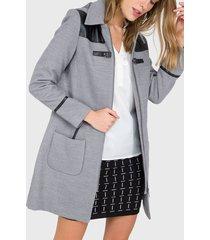 abrigo io  gris - calce ajustado