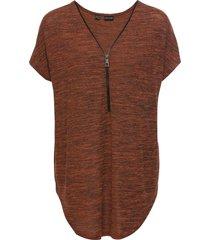maxi maglia con cerniera (arancione) - bodyflirt