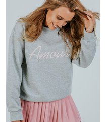 bluza amour pink