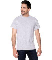 camiseta gris preppy mc c/r unicolor