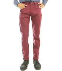 pantalón aranzazu dril elástico slim fit gamma vinotinto