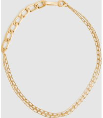 reiss ellena - brushed gold plated chain necklace in gold, womens