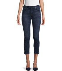 halle high-rise contour capri skinny jeans