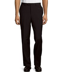 wool flat-front trousers