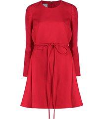 valentino tie-waist flared dress