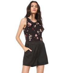 macaquinho lily fashion babados preto