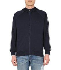 z zegna hooded sweatshirt with zip