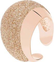 anello in ottone bronzato e glitter bronzo per donna