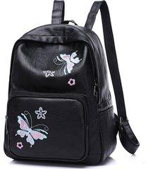 mochilas/ bordado mariposa mochila mujeres mochila-verde