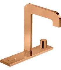 misturador para banheiro mesa com chapa click red gold - 1877.gl98.rd - deca - deca