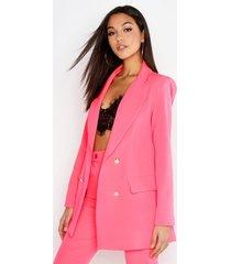 tall neon tailored blazer, neon-pink