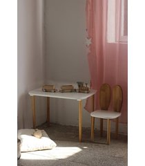 krzesełko królik + stolik biały