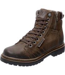 bota coturno em couro mega boots  6016 cafã© - marrom - masculino - dafiti