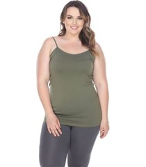 white mark plus size tank top