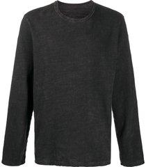uma wang loose fit sweatshirt - black
