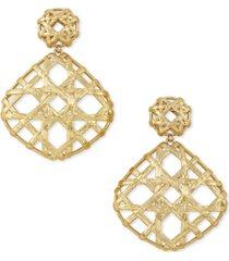 kendra scott gold-tone natalie openwork drop earrings