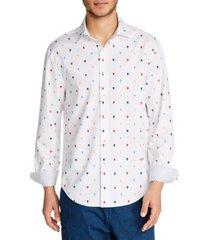 tallia men's skull print shirt