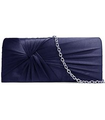 ruched satin convertible clutch