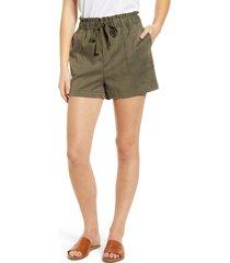 women's caslon tie waist shorts, size x-large - green