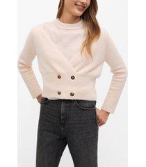 mango women's button knit cardigan