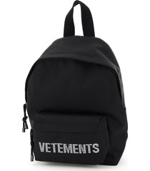 vetements rhinestone logo small backpack