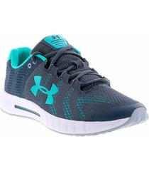 zapatillas running under armour micro g pursuit mujer azul