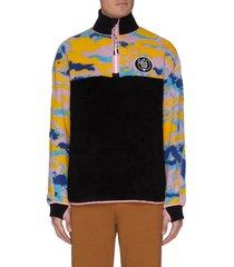 eye/loewe/nature colourblock paneled sweater