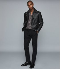 reiss tace - paisley printed shirt in black, mens, size xxl