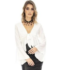 blusa bata ocna brasil manga flare alma feminina - feminino
