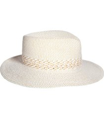 eric javits bayou packable squishee(r) fedora in white mix at nordstrom
