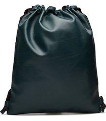 bond drawstring backpack ryggsäck väska grön royal republiq