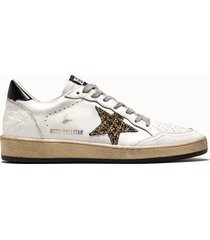 golden goose deluxe brand sneakers ball star colore bianco glitter
