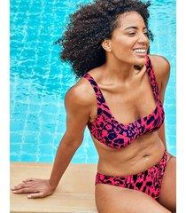 singita underwire leopard print crop bikini top b-g