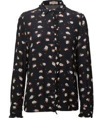 aika blouse lange mouwen zwart custommade