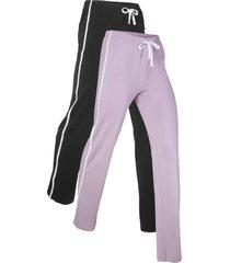 pantaloni in maglina elasticizzata (pacco da 2) livello 1 (nero) - bpc bonprix collection