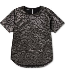 alfani animal-print burnout top, created for macy's