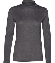 iralie roll neck ls top t-shirts & tops long-sleeved grijs andiata