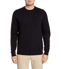 men's big & tall nordstrom cotton & cashmere crewneck sweater, size xlt - black