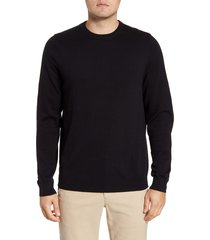 men's big & tall nordstrom men's shop cotton & cashmere crewneck sweater, size xxx-large - black