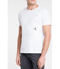 camiseta ckj mc estampa rosa ck one - branco - pp