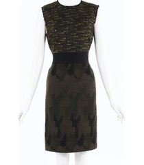 giambattista valli camouflage tweed dress