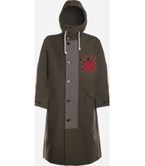j.w. anderson cotton parka with corduroy insert