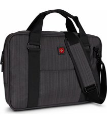 bolso para laptop swissbrand gleather briefcase dark grey