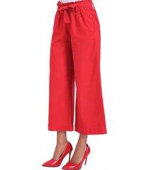 pantalón culotte cinta rojo nicopoly