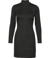 coated milano dress korte jurk zwart calvin klein jeans