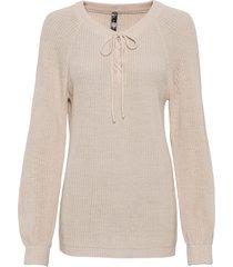 maglione con stringatura (beige) - rainbow