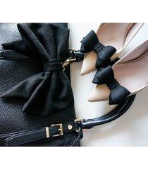 kokarda brelok + klipsy do butów / black suede