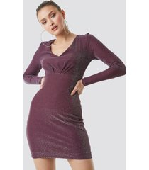 trendyol glittery mini dress - purple